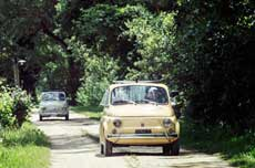 The Legendary Fiat 500 Tour at Sunset on Florence and Chianti Hills with Aperitif