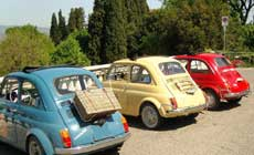 The Legendary Fiat 500 Tour of Florence and  with Full Lunch and Wine Tasting